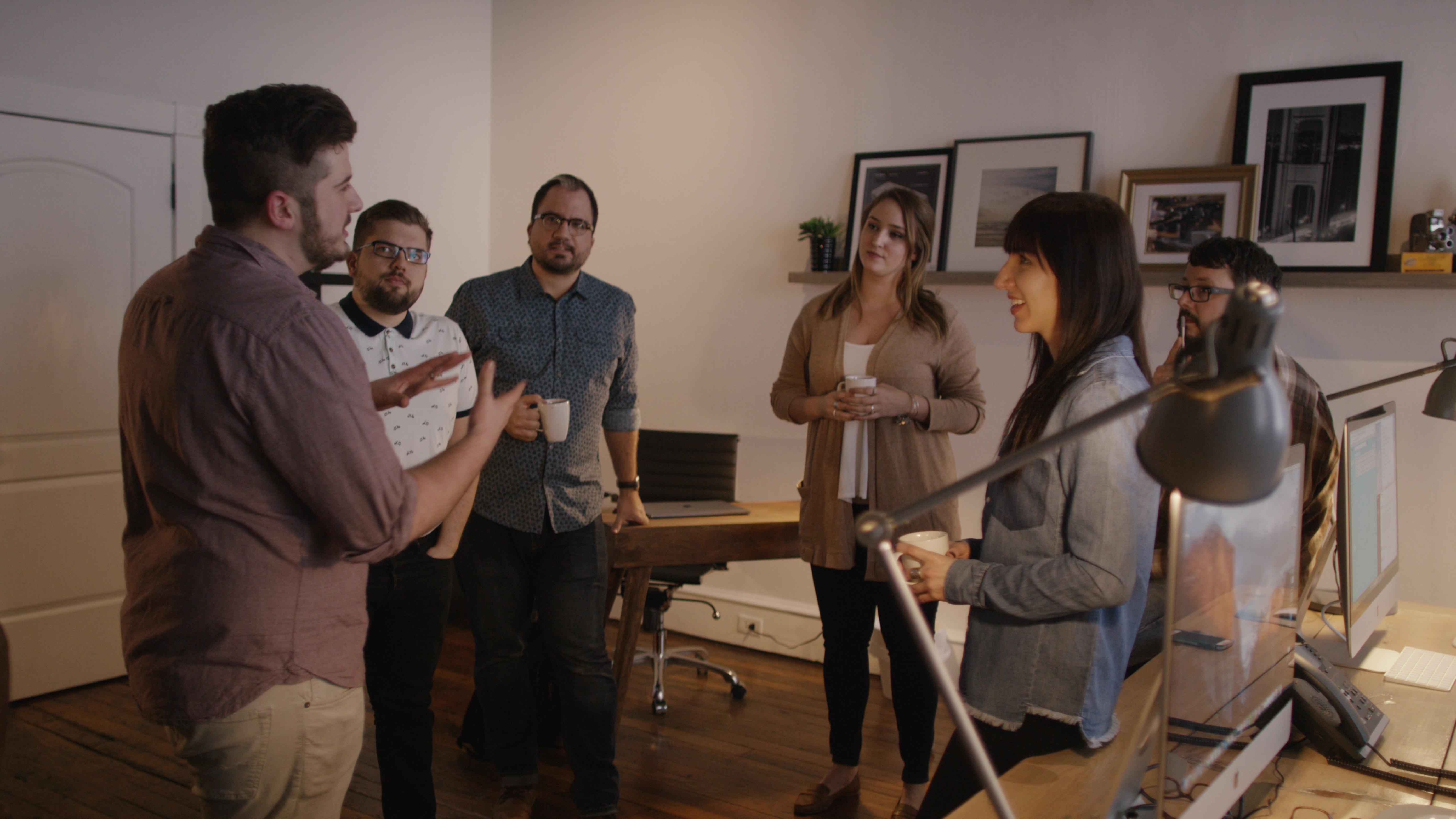 MAKE films team in a meeting